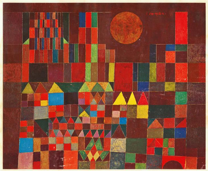 "Paul Klee, ""Burg und Sonne"", 1928, private collection – wikiart.org"
